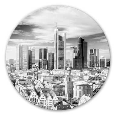 Glasbild Frankfurter Skyline - rund