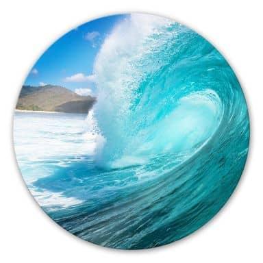 Wave - Round Glass art