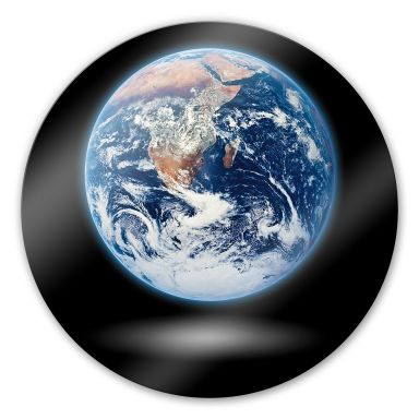 Glasbild Earth - rund