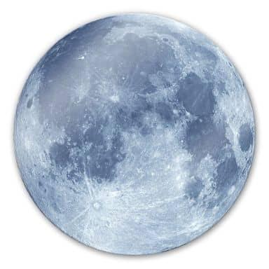 Tableau en verre - Pleine Lune - Rond