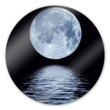 Moon - Round Glass art