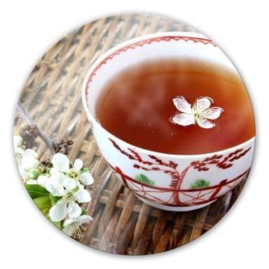 Glasbild Teatime - rund