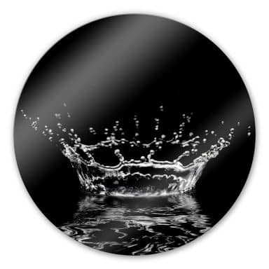 Waterdrops 1 Glass art - round