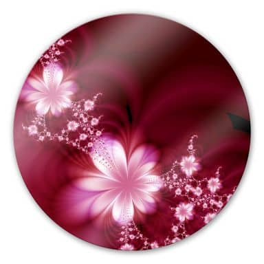 Effects Glass art - round
