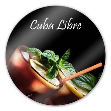 Glasbild Cuba Libre - rund
