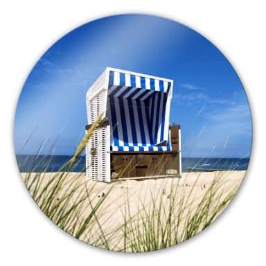 Glasschilderijen Strandstoel Rond