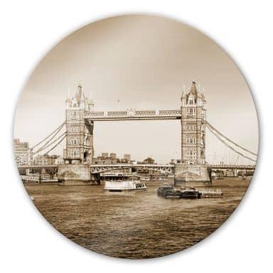 Glasbild Tower Bridge - rund