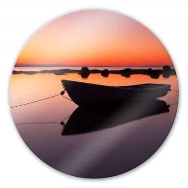 Glasbild Stille See - rund