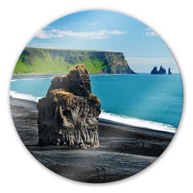 Glasbild Cape Dyrholaey - rund