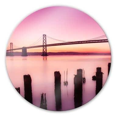 Glasbild San Francisco Bay - rund