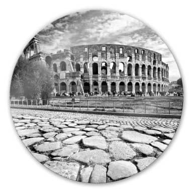 Glasbild Colosseum - rund