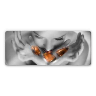 Fire & Ice Glass art - panorama