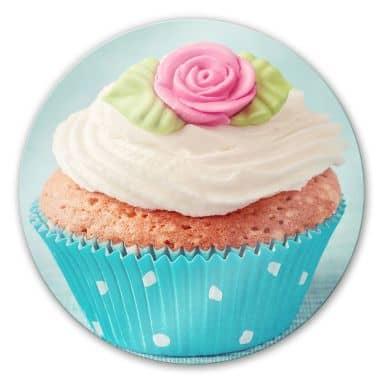 Glasbild Sweet Cupcake - rund
