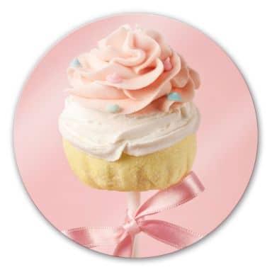 Glasbild Lovely Cakepop - rund