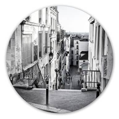 Montmartre - Round Glass art