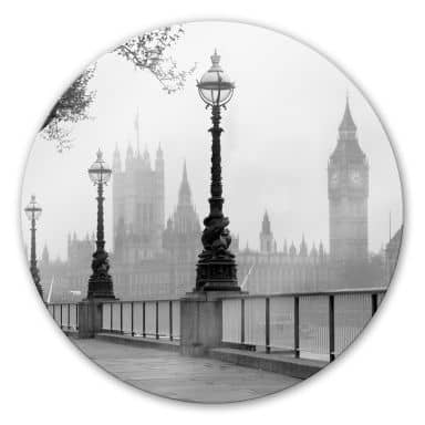 Palace of Westminster Glass art - round