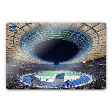 Glasbild Hertha BSC - Stadion bei Nacht