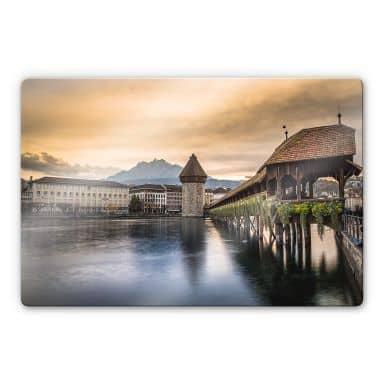 Glasbild Huber - Old Town Lucerne