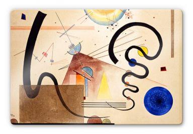 Glasbild  Kandinsky - Zwei Bewegungen