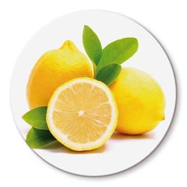 Lemons Glass art - round
