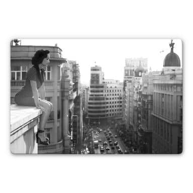 Glasbild - Marcos - On the rooftop