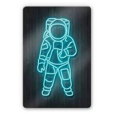 Glasschilderij Mielu - Astronaut
