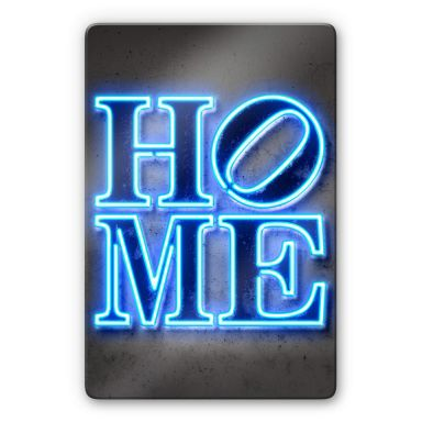 Glasbild Mielu - Home