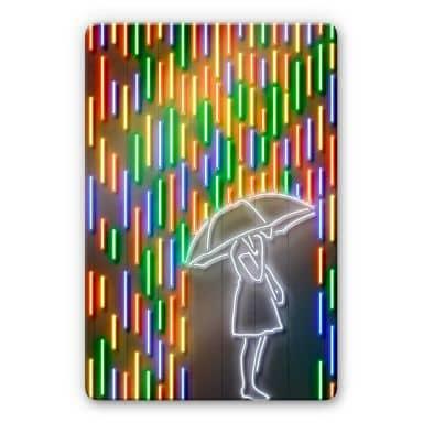 Glasbild Mielu - Rain