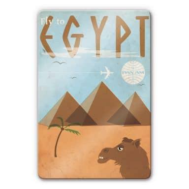 Glasbild PAN AM - Fly to Egypt