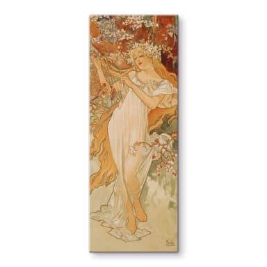 Mucha - Seasons: Spring 2 Glass art