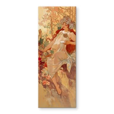 Mucha - The Seasons: Autumn Glass art