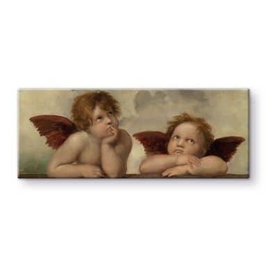Glasbild Raffael - Zwei Engel
