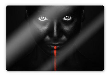 Glasbild Petkov - Red Stripe