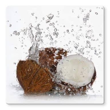 Glasbild Caribbean Coconut