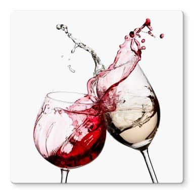 Wine Glasses - Square Glass art