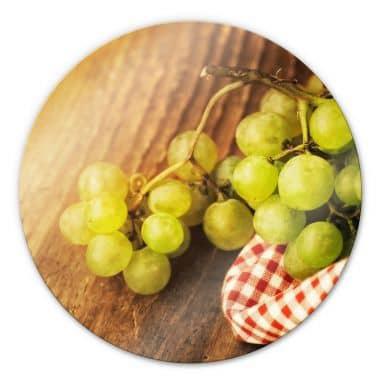 Glasbild Süße Trauben - rund