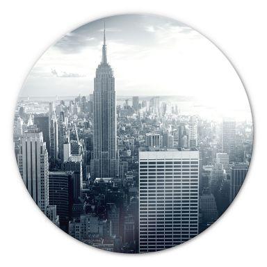 Tableau en verre - The Empire State Building - rond