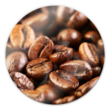 Glasbild Coffee 4 - rund