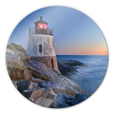 Sea View - Round Glass art
