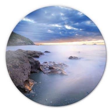 Sea Bay - Round Glass art