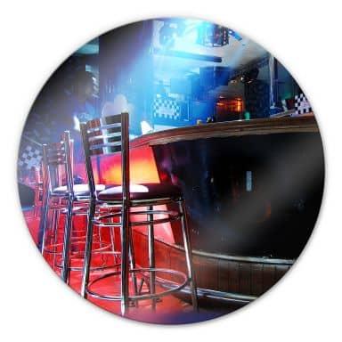 Glasbild Partyroom - rund
