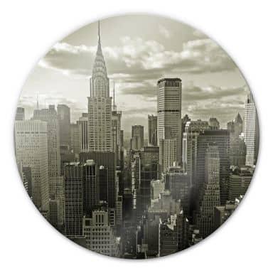Glasbild Manhattan 2 - rund