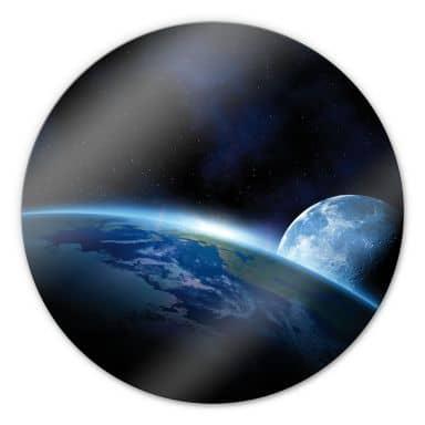 Glasbild Planet Earth - rund