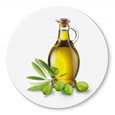 Olive Oil - Round Glass art