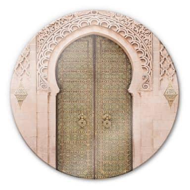 Glasbild Sisi & Seb - Moroccan Door - Rund