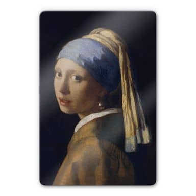 Vermeer - Girl with a Pearl Earring Glass art