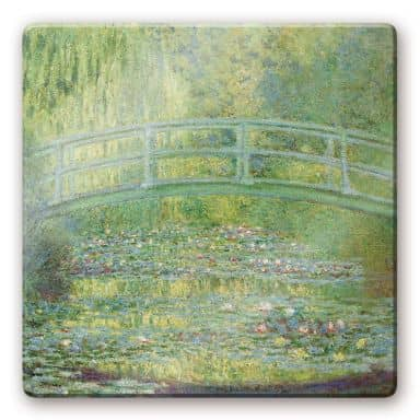 Monet - The Waterlily Pond Glass art