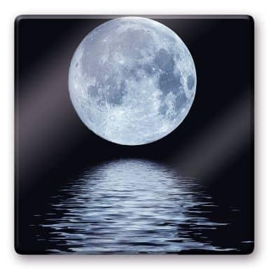 Glasbild Moon