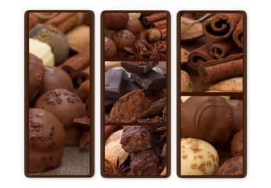 Chocolate dream 03 Glass art (3 parts)