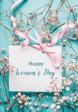 Gift Certificate Women's Day - turquoise